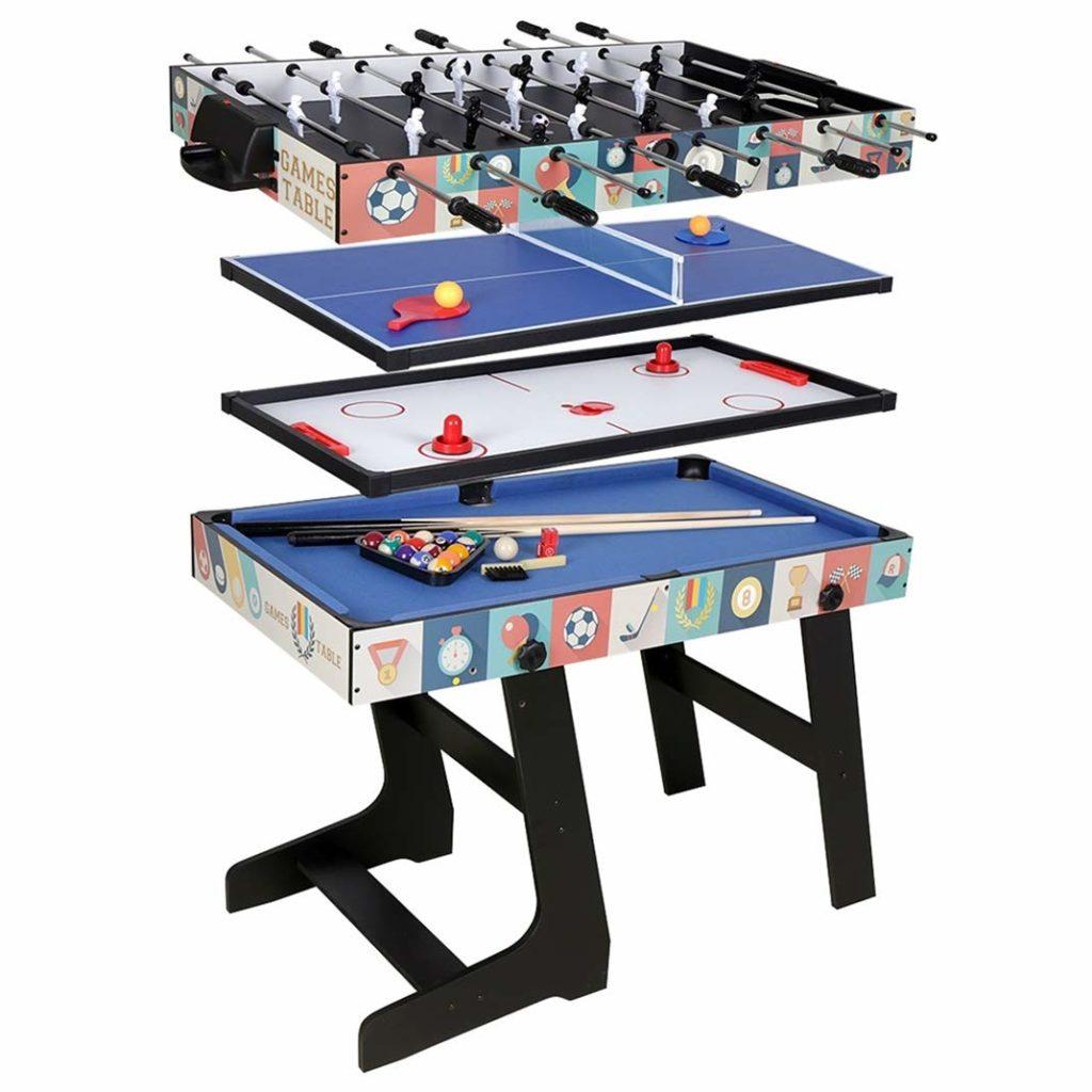 air hockey ping pong table combo