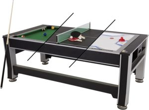Triumph 3-in-1 Swivel Multigame Air Hockey Table