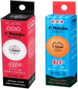 Nittaku 3-Star Premium & 3-Star Nexcel Balls