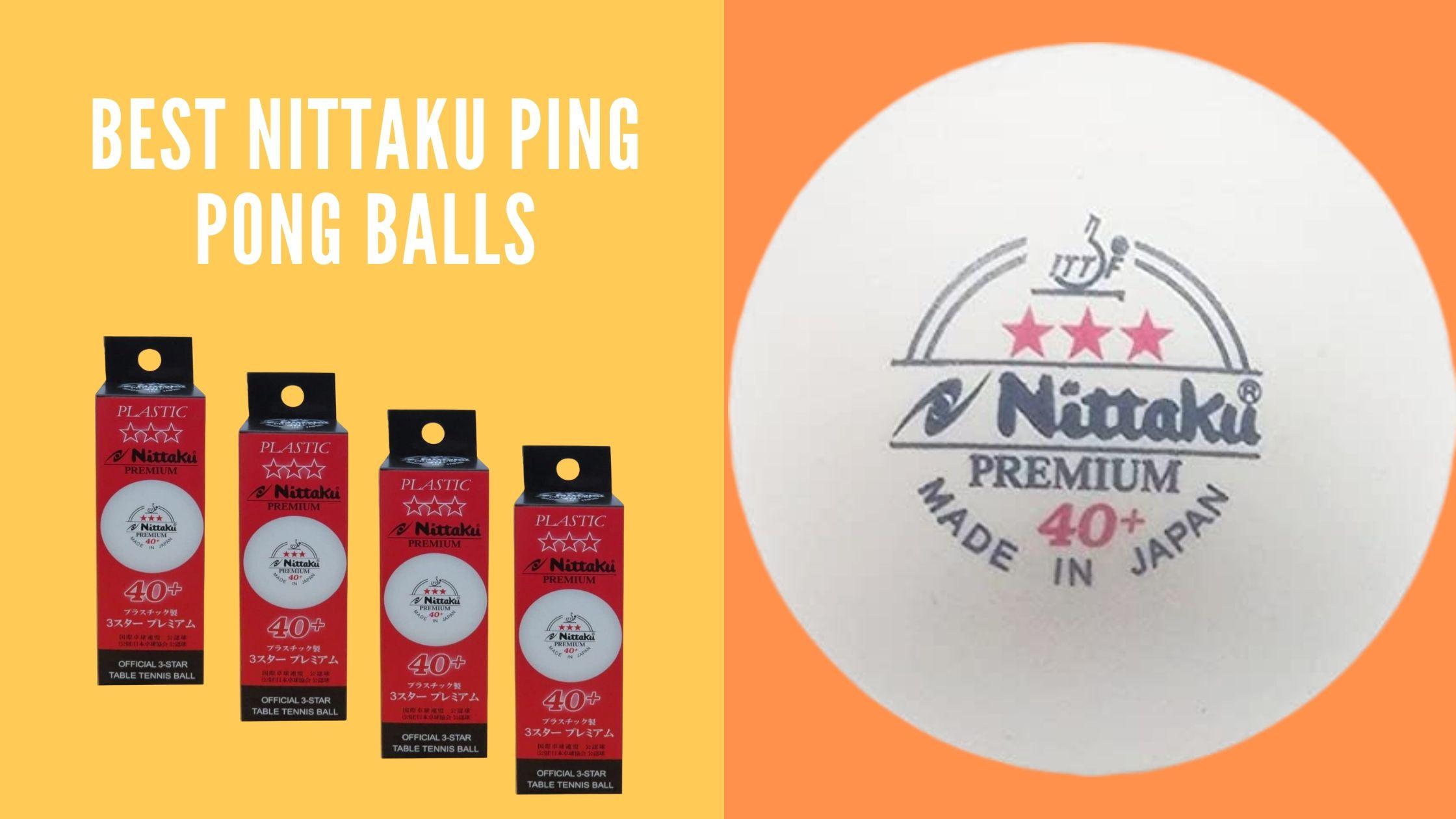 Nittaku ping pong balls